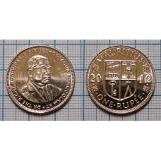 1 рупия 2012 год. Маврикий