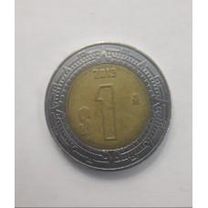 1 песо 2013 год. Мексика