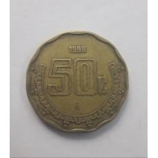 50 сентаво 1998 год. Мексика