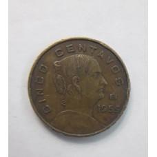 5 сентаво 1959 год. Мексика