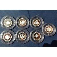 Набор монет. 1 рубль 2002 год. Россия. 200-летие образования в России министерств