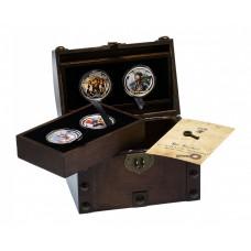 Набор монет. Ниуэ 2 доллара 2011 год. Пираты Карибского моря. (4 шт.)