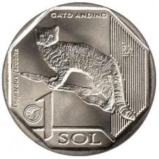 Перу. 1 соль 2019 год. Фауна Перу - Андская кошка.