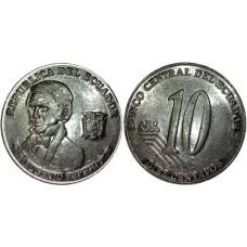 10 сентаво 2000 год. Эквадор