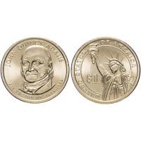1 доллар 2008 год. США. Джон Куинси Адамс. 6-й президент (P)