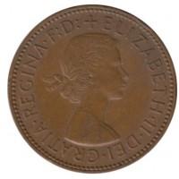 1/2 пенни 1956 год. Великобритания.