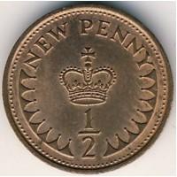 1/2 пенни 1971 год. Великобритания.