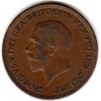 1/2 пенни 1935 год. Великобритания.