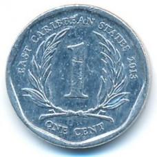 1 цент 2013 год. Восточные Карибы
