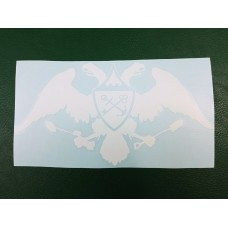 Наклейка на авто, искатель 47 регион, орел (цвет белый).