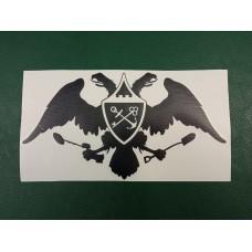 Наклейка на авто, искатель 47 регион, орел (цвет черный).