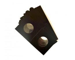 Холдеры для монет самоклеющиеся ∅ 31,5 мм (цвет черный), 1шт