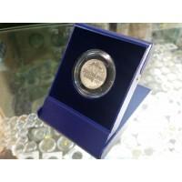 Футляр пластиковый для одной монеты в капсуле (диаметр 44 мм), размер 79х106х16 мм, синий