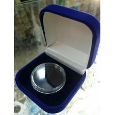 Футляр для одной монеты, медали (диаметр 40 мм, глубина 5 мм), размер 65х65х44 мм, синий