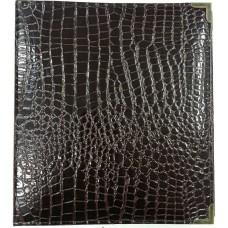 """Альбом для значков на ткани """"Grand Рифленый"""", кожзам, 5 листов, 270х320 мм."""