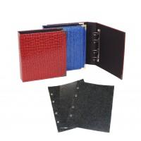 Альбом для значков 230х270 мм, рифленый, Оптима (5 листов на ткани)