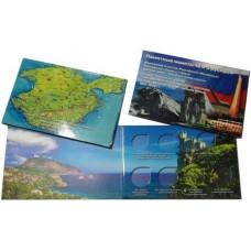 Альбом-открытка для СЕМИ памятных монет 10 и 5 рублей, посвященных Крыму и Севастополю