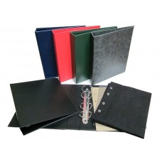 Альбом вертикальный 230х270 мм, бумвинил, с листами для значков на ткани