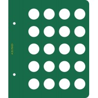Лист Ø25,75 мм для альбома «Памятные монеты Европейского Союза (2 евро)»