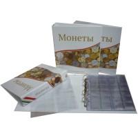 Альбом для современных монет, 230х270мм, лист скользящий