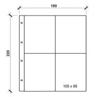 Лист вертикальный для открыток 190х220мм на 4 ячейки (формат Numis)