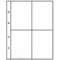 Лист вертикальный для открыток, фото и бон 245х310 мм на 4 ячейки размером 110х148 мм, формат Grand