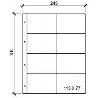 Лист вертикальный для календарей и визиток 245х310мм на 8 ячеек размером 70х110мм, формат Grand
