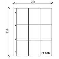 Лист вертикальный для календарей и визиток 245х310мм на 9 ячеек размером 95х75мм, формат Grand