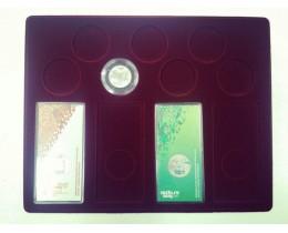 Планшет (222х284х10 мм) для 4 Олимпийских монет Сочи-2014 в блистере и 7 Олимпийских монет Сочи-2014 в капсулах (Синий)