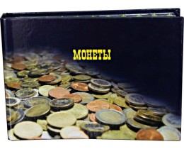 Альбом горизонтальный для монет на 180 ячеек, комбинированный, ламинированный.
