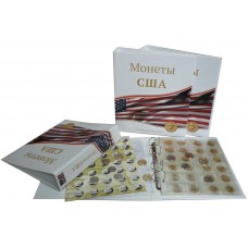 Альбом для монет США - Комби, 230х270мм, лист, разделитель