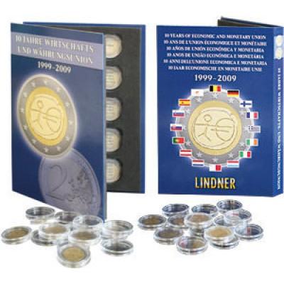 Планшет для монет 2 Евро, 1999-2009. LS1010  Производство Lindner