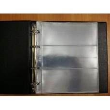 Альбом вертикальный 210х230 мм, Numis, с листами для бон, 10 листов