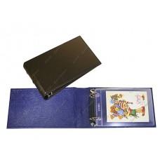 Альбом горизонтальный 230х140 мм (Элит) иск. кожа, с листами для бон