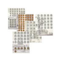 Комплект разделителей для коллекции разменных монет России с 1997 г.