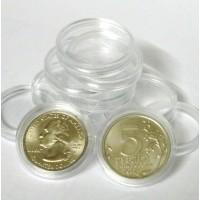 Капсулы для монет Ø 25,5 мм. Производитель: КНР