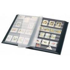 """Альбом для марок """"BASIC"""" 32 листа (64 страницы) чёрные листы. Leuchtturm"""