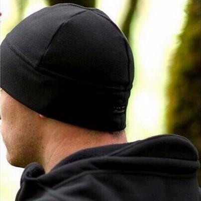 Шапка флисовая, чёрная, новая (размер 60-62)