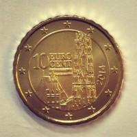 10 евроцентов 2014 год. Австрия