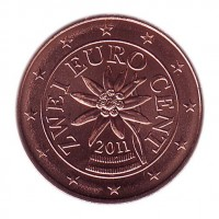 2 евроцента 2011 год. Австрия