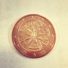 2 евроцента 2014 год. Австрия
