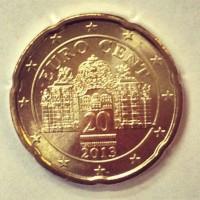 20 Евроцентов 2013 год. Австрия