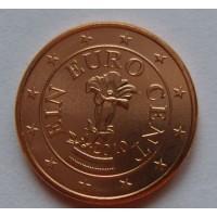 1 евроцент 2010 год. Австрия