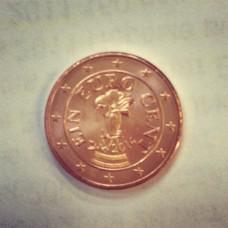 1 евроцент 2014 год. Австрия