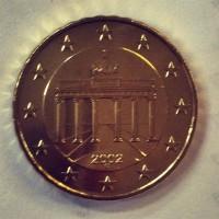 10 евроцентов 2002 год. Германия (двор F)