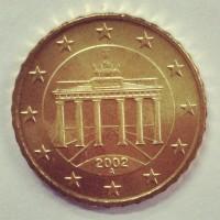 10 евроцентов 2002 год. Германия (двор А)
