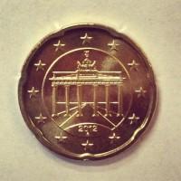 20 Евроцентов 2012 год. Германия (двор А)