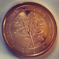 1 евроцент 2013 Германия (двор A)