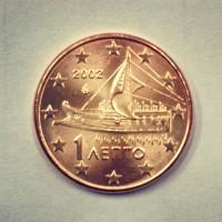 1 евроцент 2002 год. Греция