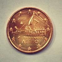 1 евроцент 2003 год. Греция